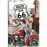 ルート66 Route 66 Lone Rider / ブリキ看板 TIN SIGN