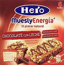 Hero Muesly Energia Barritas de Chocolate - Pack de 6 x 25 g - Total: 150 g