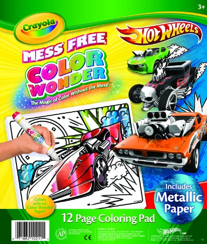 Crayola Color Wonder Metallic Paper Hot Wheels