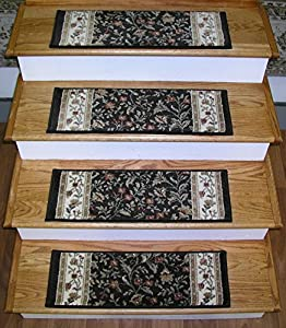 149692 rug depot premium carpet stair treads 26 x 9 stair treads brown background set - Rugs and runners to match ...