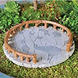 Circle Patio for Fairy Garden Fiddlehead Stone Resin Accessory Decoration