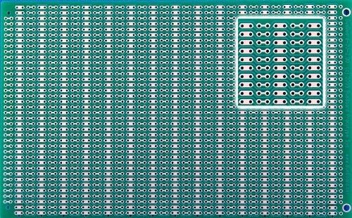 BB3U BusBoard-3U, Zig-zag Busses, 1 Sided PCB, Soldermask, Accepts DIN Conn., 3.94 x 6.30 in (100 x 160 mm)