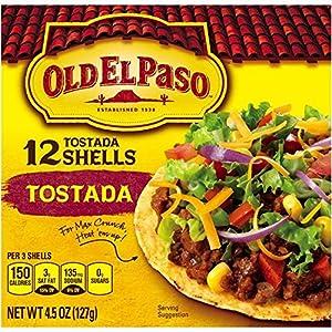 Amazon.com : Old El Paso, Tostada Shells, 4.5oz Box (Pack of 4) : Taco