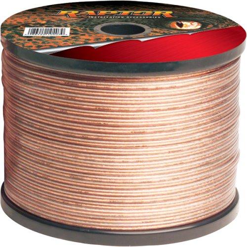 Raptor S14-50 50 Feet 14 Gauge Speaker Wire (Clear)