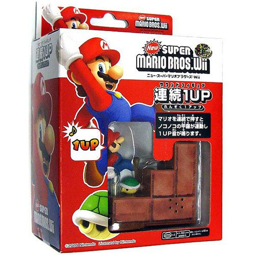 New Super Mario Bros Wii 1up Turtle Tip Mini Sound Figure - 1