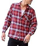 マイノリティセレクト(MinoriTY SELECT) ネルシャツ メンズ チェック ネル シャツ 長袖 赤 黒 S J柄(22)
