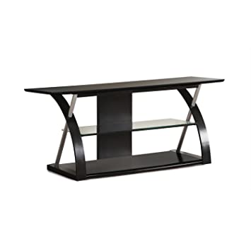 Premium Tv Stand for Flat Screens Black Lcd Entertainment Center in Modern Contemporary Design
