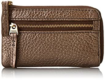 Fossil Erin Zip Coin Wallet,Metallic,One Size