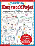 Hands-On Homework Pages: 50 Fun-Filled, Reproducible Activities, Games, and Manipulatives That Help Stregthen Skills in Reading, Writing, Math, and More! (0439043859) by Novelli, Joan