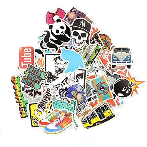 Diageng Stickers Skateboard Snowboard Vintage Vinyl Sticker Graffiti Laptop Luggage Car Bike Bicycle Decals mix Lot Fashion Cool Random style milticolor(pack of 50) (Pack Of Stickers compare prices)