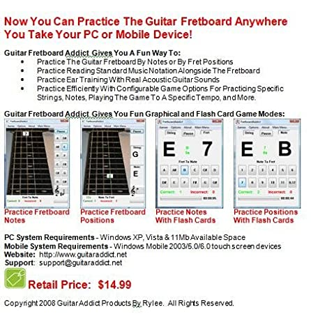 Learn the Guitar Fretboard with Guitar Fretboard Addict Software