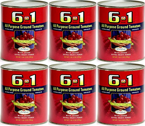 6 in 1 All Purpose Ground Tomatoes 28 oz (Pack of 6) (1 Can Tomato Soup compare prices)