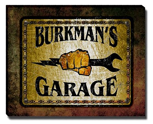 Burkman's Garage Stretched Canvas Print (Burkman Brothers compare prices)