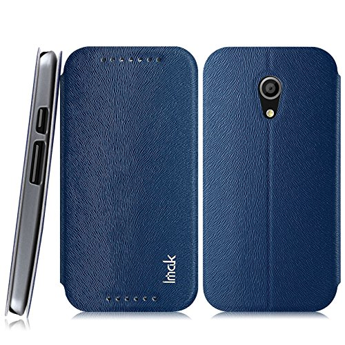 Heartly Imak squirrel pattern Premium Luxury PU Leather Flip Stand Hard Back Case Cover For Motorola Moto G2 G G+1 2nd Generation - Power Blue