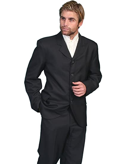 Steampunk Men's Coats High Button Front Coat  AT vintagedancer.com