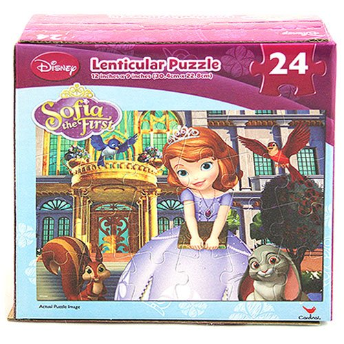 Disney Sofia the First 24 Piece Lenticular Puzzle [Sofia and Friends] - 1