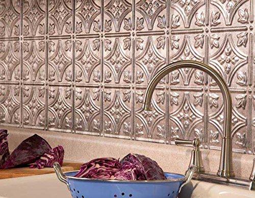 fasade easy installation backsplash 18inx24in traditional