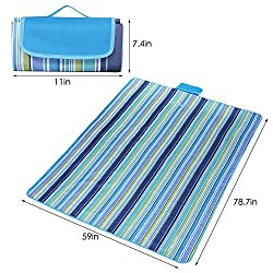XKTTSUEERCRR Portable Foldable Outdoor Picnic Mat, Beach Blanket Mat, Waterproof Moisture-proof Lightweight All-Purpose Mat For Picnic, Beach, Traveling, Camping, Hiking, Baby Crawling - 78