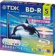 TDK �^��p�u���[���C�f�B�X�N BD-R 25GB 1-6�{�� 5�F�J���[�~�b�N�X ���C�h�v�����^�u���Ή� 5�� 5mm�X�����P�[�X BRV25PWMC5A