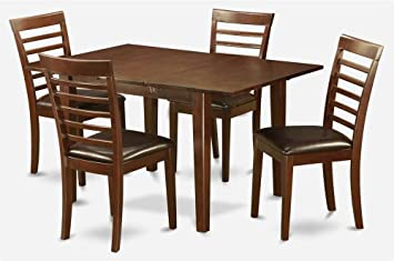5-Pc Traditional Dining Set in Mahogany Finish