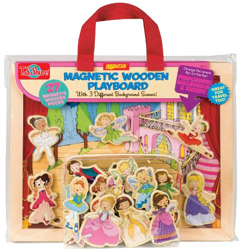 T.S. Shure Princess, Ballet & Fairies Magnetic Wooden Playboard front-478993