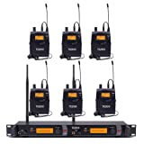 UHF Wireless In Ear Monitor System,Top Quality Pro Audio 2 Channel 100 Frequency with 6 receivers For Stage & Studio