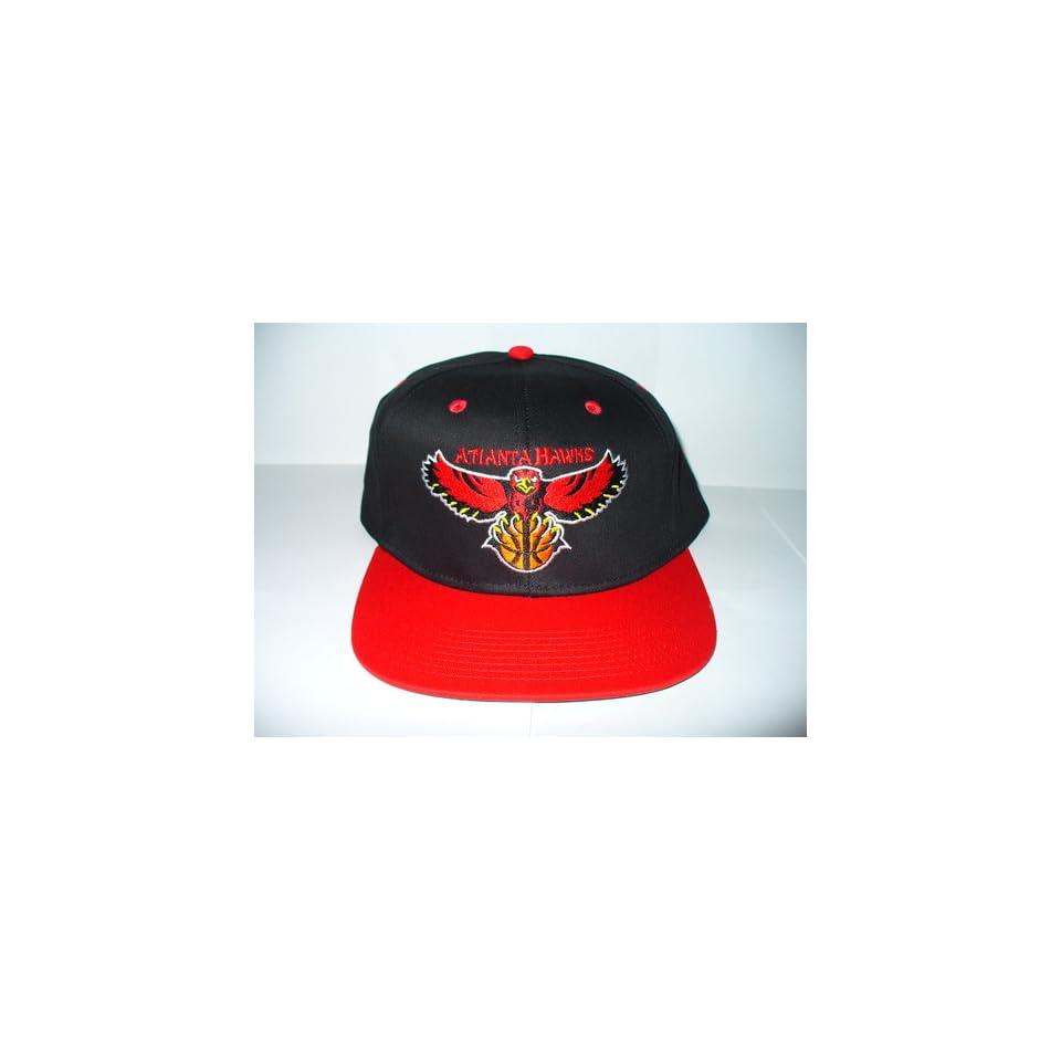 more photos fb782 6b192 TISA Atlanta Hawks SnapBack Collectible Hat Vintage RARE NBA Black RED  Adjustable RETRO