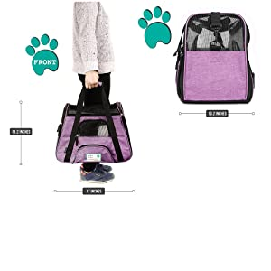 dbe7ce29a2c PetAmi Premium Airline Approved Soft-Sided Pet Travel Carrier | Ventilated,  Comfortable Design with Safety Features ...