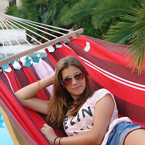 Lola Stabhängematte Kolumbiana Elegance rot-schwarz-weiß