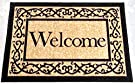 Ottohome Collection Beige 20 X30  Machine-Washable Non-Slip Welcome Mat Doormat Rug 20-Inch by 30-Inch