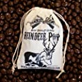 Chocolate Reindeer Poop (Milk Chocolate Covered Raisins) in Vintage Cotton Bag - Stocking Stuffer from ChocolatePoopShack