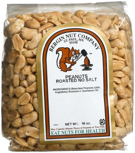 Buy Bergin Nut Company Peanuts Blanched, Roasted No Salt, 16-Ounce Bags (Pack of 6) (Bergin Nut Company, Health & Personal Care, Products, Food & Snacks, Baking Supplies, Nuts & Seeds)