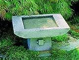 Campania International B-068-AS 1-Piece Kyoto Birdbath, Alpine Stone