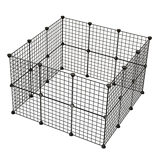 Dog Playpen By COSYHOME Portable Large Metal