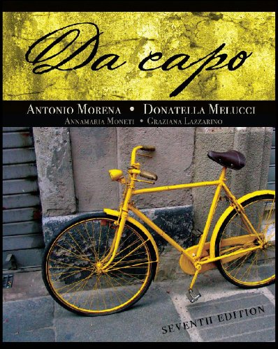 Student Activities Manual for Moneti/Lazzarino's Da capo