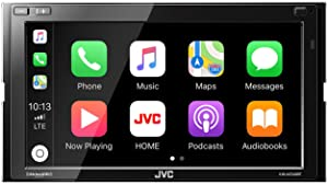 JVC KW-M740BT Compatible with Apple CarPlay, Android Auto 2-DIN AV Receiver (No CD Drive) with Back up Camera (Tamaño: Double DIN)