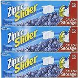 Ziploc Slider Storage Bags Gallon 15 ct (Pack Of 3)