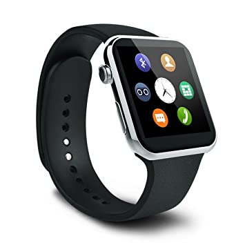 Mobile Link Samsung Galaxy S Duos 2 7582 Compatible A9 Bluetooth Smart Watch  Silver  with SIM Card Support, Camera, Sleep Monitoring, Sedentary Remin available at Amazon for Rs.6099