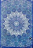 Twin Hippie Star Tapestries , Psychedelic Tapestry ,Sun and Moon Tapestry,star Mandala Tapestries, Throw Bedspread Queen Bed Dorm Decor by Labhanshi