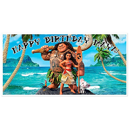 Personalized Moana Birthday Banner