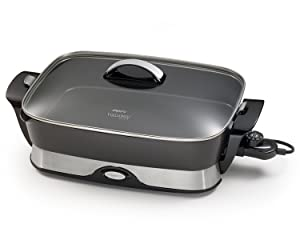 Presto 06857 16-inch Electric Foldaway Skillet, Black Via Amazon