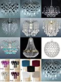 Chandelier Chic Ceiling Lights Pendant gentle Shade clear Droplet gentle Fittings
