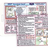 NRP (Neonatal Resuscitation Program) Survival Card - Small 3x4 3/8 in. - Laminatyed with hole punched