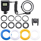 Flashpoint Macro LED Ring Flash VL-48 Bundle with Adapters for 49, 52, 55, 58, 62, 67, 72, and 77mm Diameter Lenses.