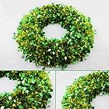 THG New Tinsel Wreath Door Tree Decoration Home Garden Door Tree Decoration (Green£©