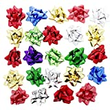 48 Count Christmas Holiday Gift Wrap Bows Stick 'N Peel - 2 Pack Set, 2.5