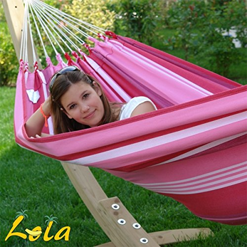 Lola Aruba Fantasy Hängematte bordeaux-pink-weiß