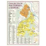 Carte des vins de Sauternes et Barsac