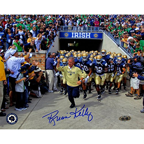 Brian Kelly Notre Dame Running Out Of The Tunnel 8X10 Photo front-701558