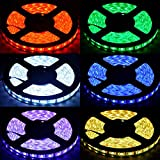 5050 RGB 300 LED Strip Light DC 12V 5 meters 60led/m LED Flexible Light Strip + 44Keys remote controller + Power Adapter